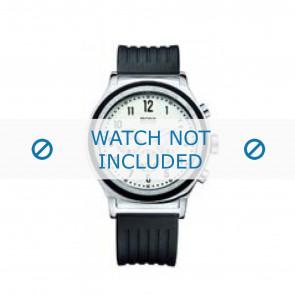 Hugo Boss horlogeband HB-54-1-14-2117 / HB1512324 Rubber Zwart 22mm