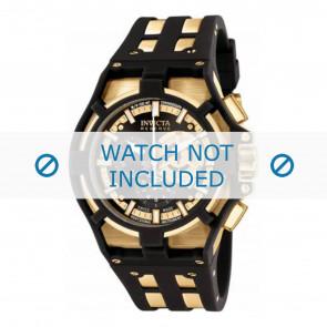 Invicta horlogeband 0639.01 Rubber Zwart