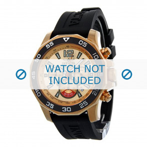 Invicta horlogeband 7432 Rubber Zwart 22mm