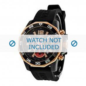 Invicta horlogeband 7435 Rubber Zwart 22mm