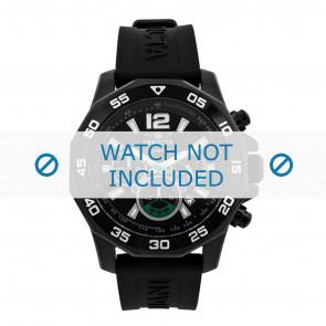 Invicta horlogeband 7436 Rubber Zwart 22mm
