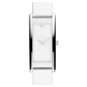 Horlogeband Danish Design IV12Q937 Leder Wit 15mm