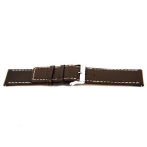 Echt lederen horloge band bruin 32mm EX-J43