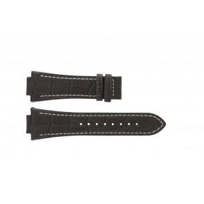 Jaguar horlogeband J625/4 / J620 / J620-4 Leder Bruin 28mm + wit stiksel