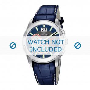 Jaguar horlogeband J615-2 Leder Blauw 22mm + wit stiksel