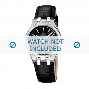 Jaguar horlogeband J674-3 / J674-5 Leder Zwart + zwart stiksel