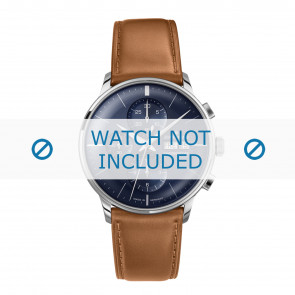 Junghans horlogeband 027/4526.00 Leder Cognac 21mm + standaard stiksel