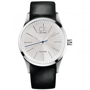 Horlogeband Calvin Klein K2241126 Leder Zwart