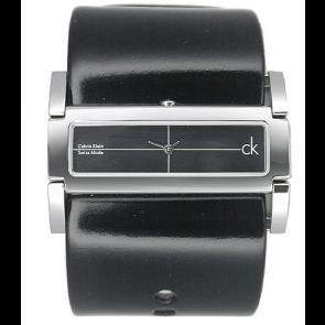 Horlogeband Calvin Klein K44231 Leder Zwart