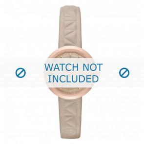 Karl Lagerfeld horlogeband KL1612 Leder Beige