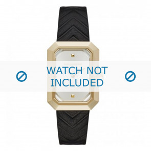 Karl Lagerfeld horlogeband KL6102 Leder Zwart
