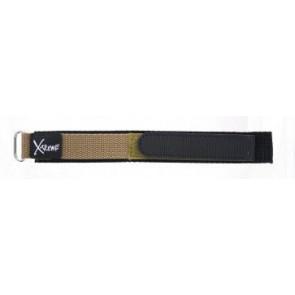 Klittenband horlogeband 20mm licht bruin