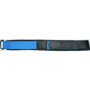 Klittenband horlogeband 20mm licht blauw