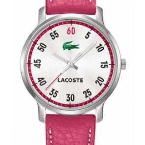 Horlogeband Lacoste 2000567 / LC-41-3-14-2199 Leder Roze 20mm