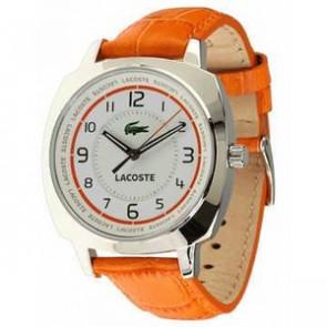 Horlogeband Lacoste 2000600 / LC-47-3-14-2233 Leder Oranje 18mm