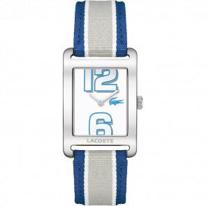 Horlogeband Lacoste 2000693 / LC-51-3-14-2261 Leder Blauw 20mm