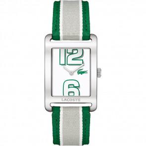 Horlogeband Lacoste 2000696 / LC-51-3-14-2261 Leder Groen 20mm