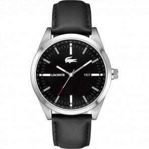 Horlogeband Lacoste 2010611 / LC-52-1-14-2277 Leder Zwart 22mm
