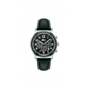 Horlogeband Lacoste 2010333 / LC-11-1-14-0032 Leder Zwart 22mm