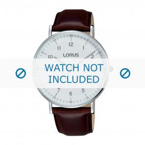 Lorus horlogeband VJ21 X071 / RH895BX9 Leder Bruin 20mm + bruin stiksel