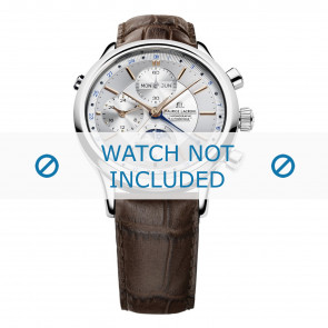 Maurice Lacroix horlogeband LC6078-SS001-131 Leder Bruin + bruin stiksel