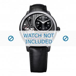 Maurice Lacroix horlogeband MP6118-PVB01-330 Leder Zwart + zwart stiksel