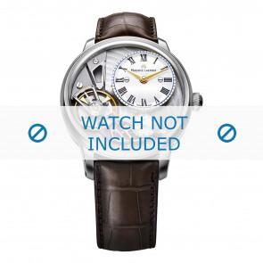Maurice Lacroix horlogeband MP6118-SS001-112-2 Krokodillenleer Bruin + bruin stiksel