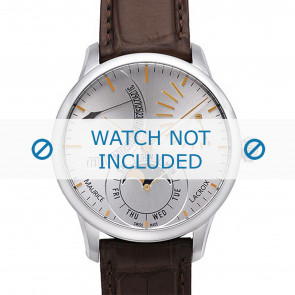 Maurice Lacroix horlogeband MP6528-SS001-130 Krokodillenleer Bruin + bruin stiksel