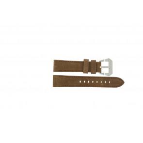 Max horlogeband BR / 20mm  Leder Bruin 20mm + bruin stiksel