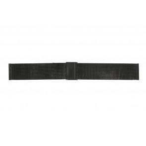 Horlogeband WoW MESH-22.1.5BL Staal Zwart 22mm