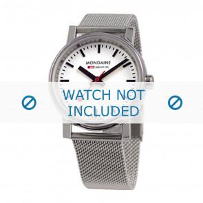 Mondaine horlogeband BM20126 / BM20038 / 30300 / 30314 / Classic 36 / Evo 35  Staal Zilver 18mm
