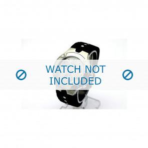 Movado horlogeband 84c51892.0 Rubber Zwart