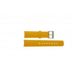 Nautica horlogeband 31507G Rubber Geel 22mm