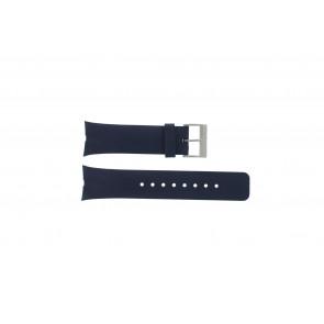 Nautica horlogeband A23002G Rubber Blauw 28mm