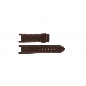 Guess horlogeband GC41501G / 145003G1 Leder Bruin 21mm + wit stiksel
