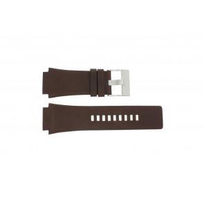 Diesel horlogeband DZ-1132 Leder Bruin 25mm