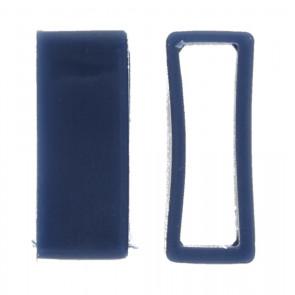 Horlogeband passantje / lusje rubber blauw 24mm