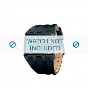 Police horlogeband PL-12079JSB-05A Leder Zwart 36mm + bruin stiksel