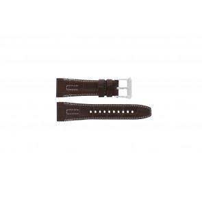 Seiko horlogeband 5D44-0AE0 / SRH011P1 Leder Bruin 26mm + wit stiksel