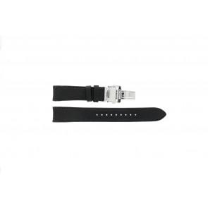 Horlogeband Seiko 7D46-0AB0 / SNP015P1 Leder Zwart 20mm