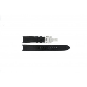 Seiko horlogeband 7D48-0AA0 / 7T62-0FF0 Leder Zwart 20mm