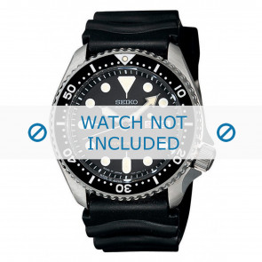 Horlogeband Seiko 7S26-0020-SKX007K1 Rubber Zwart 22mm