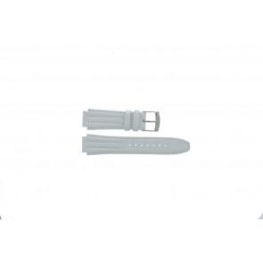Horlogeband Seiko 7T92-0HD0 / SND875P1 / 4LE7JB Leder Wit 16mm