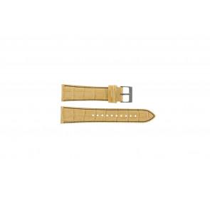 Horlogeband Seiko 7T92-0NK0 / SNDD69P1 Leder Lichtbruin 22mm