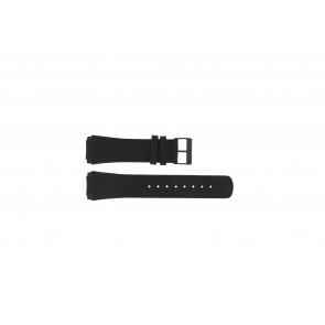 Skagen horlogeband 856XLBLB / 856XLBLN Croco leder Zwart 24mm