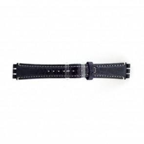 Band passend aan Swatch croco blauw 19mm  ES-2.05