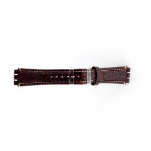 Band passend aan Swatch croco bruin 19mm  ES-2.02