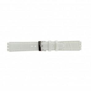 Horlogeband Swatch 21414.11 Leder Wit 17mm