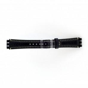Band passend aan Swatch donker blauw / grijs 19mm  ES-3.05