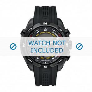 Horlogeband Swiss Military Hanowa 06-4174.13.007 / LOC-7 Rubber Zwart 24mm